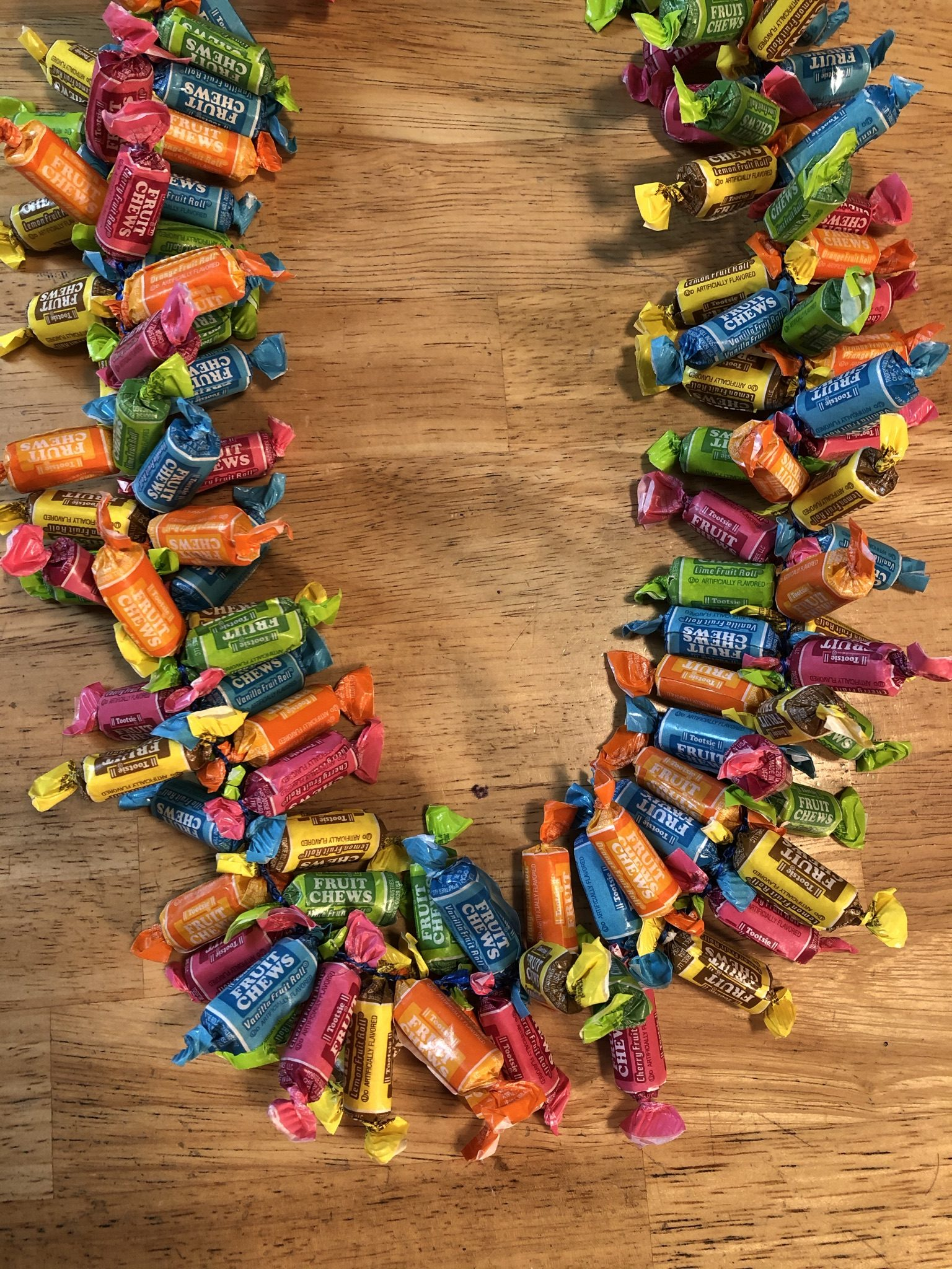Giant Fruit Chew Candy Lei - Candy Leis